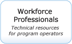 Workforce Professional button. Technical resource for program operators