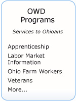 OWD programs button. Click here for services to Ohioans.